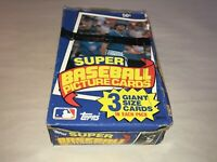 1985 Topps Super Baseball Unopened Wax Box of 24 Packs Rare