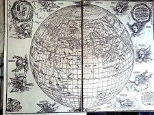 Durer 20.5x15.4 woodcut 1515 2 page original Globe of the old world