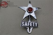 Amber Light Safety Star License Plate Topper Ornament Custom Truck Hot Rat Rod