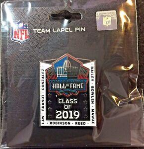 2019 Pro Football Hall of Fame Pin Bailey, Bowlen, Mawae, Law, Gonzalez, Brandt