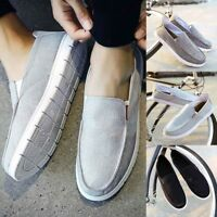 Men's Casual Canvas Shoes Flats Driving Loafers Boat Slip On Breathable Comfy