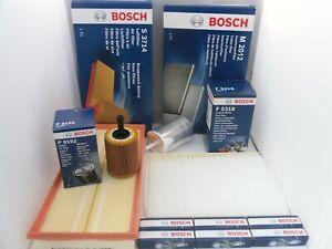 Audi TT 3.2 V6 Service Kit Oil Air Fuel Cabin Filter Plugs 2003 to 2006 BOSCH