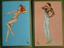 Varga Girl Pinup Art Deco 1941 Esquire Swap Cards by Vargas Blonde & Redhead WOW