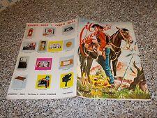 ALBUM IL LEGGENDARIO WEST ED.RELI 1973 + 4 FIGURINE ADESIVE ORIGINALE MB/OTTIMO