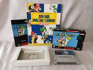 SNES Super Nintendo Mario World + Spieleberater / Lösungsbuch + OVP + Anleitung