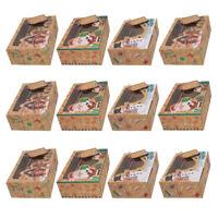 12x Geschenkboxen Kraftpapier Box Geschenkschachtel Weihnachten Verpackungsbox ❤