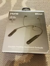 Ihome Bluetooth Neckband Earbuds  mic+remote, 5hours battery, Voice Control 2018