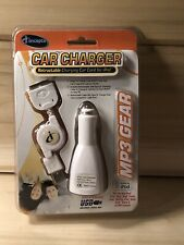 NEW ICONCEPTS MP3 GEAR RETRACTABLE IPOD TRAVEL CHARGER HIGH SPEED 2.0