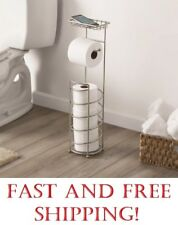 Better Home & Garden Cell Phone Toilet Paper Stand, Satin Nickel