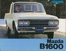 Mazda B1600 Pickup 1976-77 Original UK Sales Brochure No. 7603N110-76