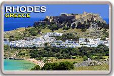RHODES GREECE FRIDGE MAGNET SOUVENIR IMAN NEVERA