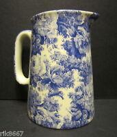 Heron Cross Pottery  LAURA (BLUE) Chintz English 1/2 Pint Milk Jug