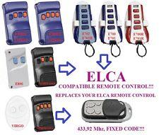 Elca E800 Aster / Elca Virgo compatible remote control, Clone 433,92Mhz