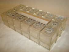 VINTAGE Clear Crystal Cut Stars Plastic KLEENEX TISSUE BOX COVER Bath Accessory