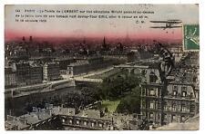 AVION AIRPLANE.PARIS COMTE LAMBERT SUR WRIGHT.RAID JUVISY-TOUR EIFFEL.18-10-1909