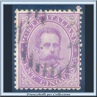 1879 Italia Regno Umberto I° cent. 50 violetto n. 42 Usato