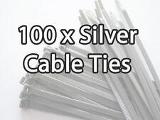 100x Silver Cable Ties Car Caravan Wheel Trims 5x370mm Fastening Zip Strap Zipty