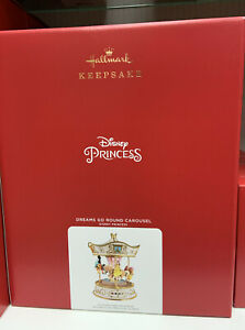 Disney Hallmark 2021 Princess Carousel Centerpiece Ornament NIB