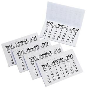 2022 Calendar Tabs Insert Tabs White Mini Calender Tear Off Pads Month To View
