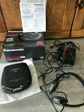 Vtg Panasonic Portable CD Player SL-S140 in Box w/ Headphones Working AC Adaptor