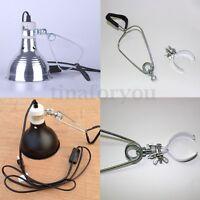100W E27 Light Dome Reflector Reptile Bulb Holder Tortoise Table Lamp Holder !