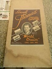 Lowell Thomas Travel Game Board 30's