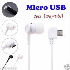 2pcs Universal Micro USB Mono Single Stereo Earphone for Bluetooth Headphone Hot Black White