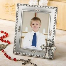 60 Regal Cross Silver Frame Christening & Baby Shower Gift Party Favors