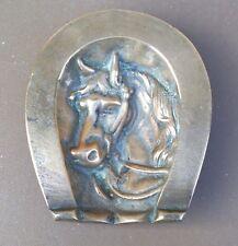 Vide poche cendrier CHEVAL FER A CHEVAL bronze empty pocket ashtray horseshoe