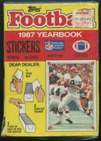 1 SEALED Box 1987 Topps Football Yearbook Stickers 100 Packs