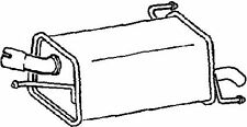 Exhaust Box With Tail Pipe to fit Corsa 1.2 00-03