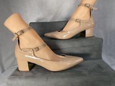 Miss Selfridge Desnuda Zapatos Sandalias con correa en el tobillo y talón bloque Talla 4/37