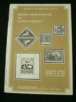 HARMERS NEW YORK AUCTION CATALOGUE 1982 BRITISH COMMONWEALTH & GENERAL FOREIGN