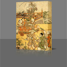 "HOKUSAI Chinese Children LARGE 16"" Framed Canvas Art Picture Japan Japanese"