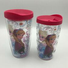 Tervis Tumblers 2 Disney Insulated Cups Frozen Anna Elsa 16oz 10oz Lids Hot Cold