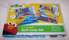 Sesame Street Elmo & Big Bird Reversible Single Bed Quilt Cover Set New