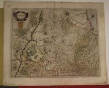 NAVARRE SPAIN 1646 HENRICUS HONDIUS UNUSUAL ANTIQUE ORIGINAL COPPER ENGRAVED MAP