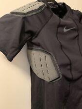 Nike Pro Hyperstrong Boys Size Medium Black Football Compression 4 Padded Shirt