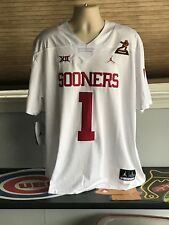 Oklahoma Sooners #1 Kyler Murray Heisman Trophy Jersey Stitched White X Large