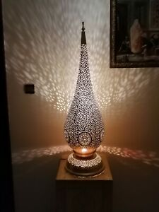 Moroccan Table Floor lamp night light Handmade brass decoration Lamp shade Fez