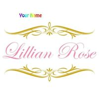 Personalized Custom Name Kids Vinyl Wall Sticker Room Decoration Wall Decal Door