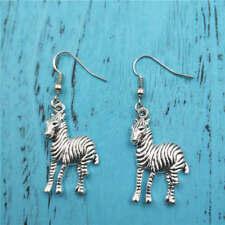 Zebra animal Silver earrings,women Fashion pendants jewelry handmade ear stud