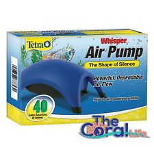 TETRA WHISPER 40 AQUARIUM AIR PUMP - UL LISTED
