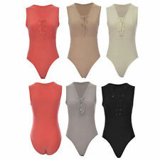 Halterneck Body Stretch Sleeveless Tops & Shirts for Women