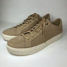 Toms Mens Brown Tan Lace Up Shoes Sneakers Perforated Size 8