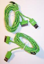 2 GREEN CLOTH RD IPHONE4 3 I PADCHARGER PHONE CORD & 1 USB light LED FLASHLIGHT