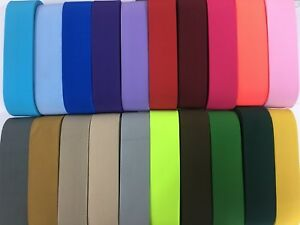 20 mm /2 cm Wide Woven Elastic, Coloured Flat Elastic 1st class Postage