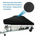 Boat Cover 17-19FT 600D Bass Boat Cover Marine Trailerable PVC Cover,Fits V-Hull