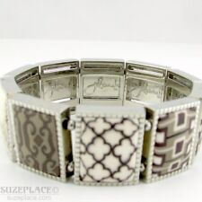 JILZARAH LATTE SQUARE STRETCH BRACELET NWOT