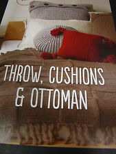 PATONS KNITTING PATTERN LEAFLET,INCA NO 0018,THROW,CUSHIONS,OTTOMAN